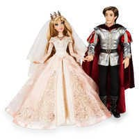 Image of Aurora and Prince Phillip Limited Edition Wedding Doll Set - Sleeping Beauty 60th Anniversary - 17'' # 1