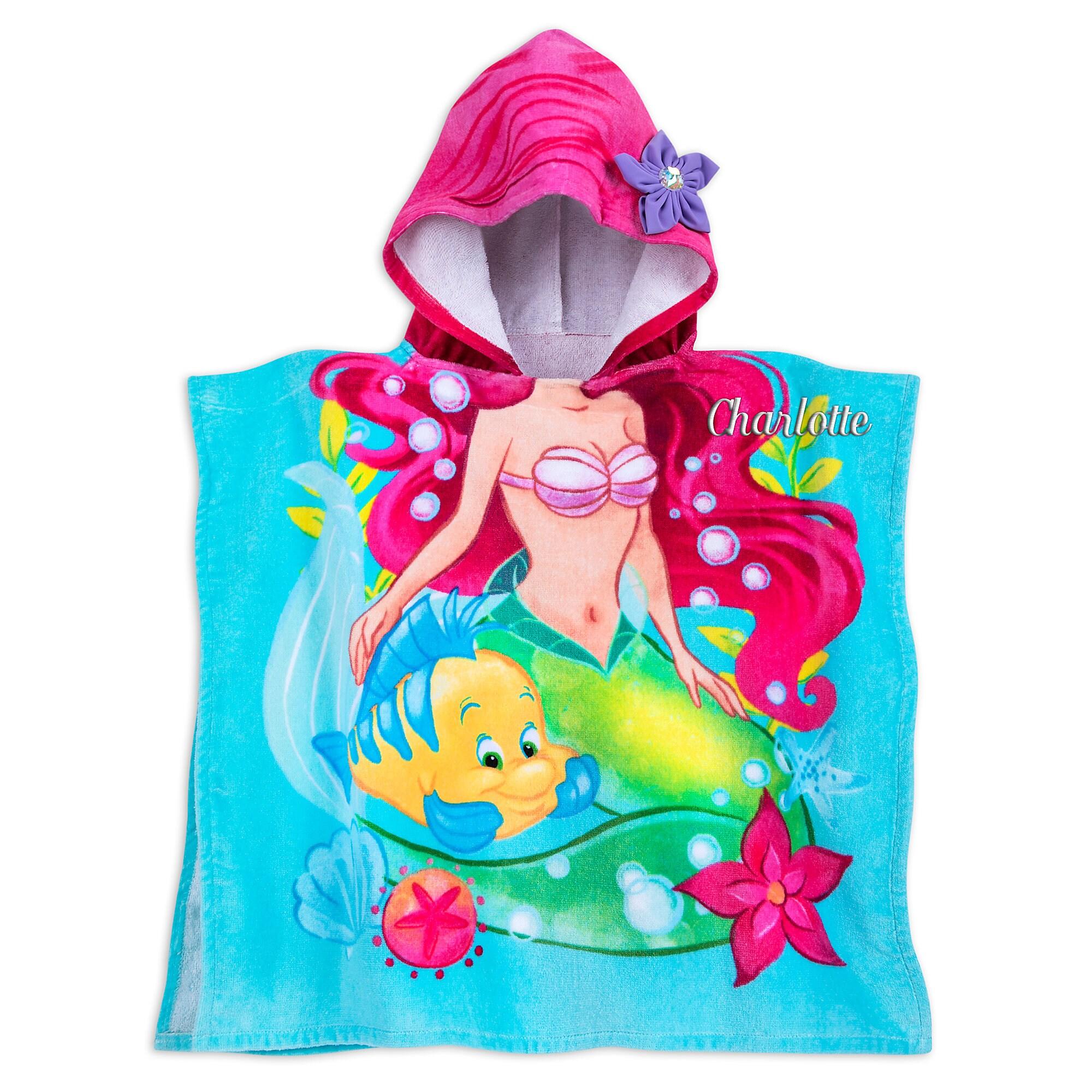 Ariel Hooded Towel for Kids - Personalizable