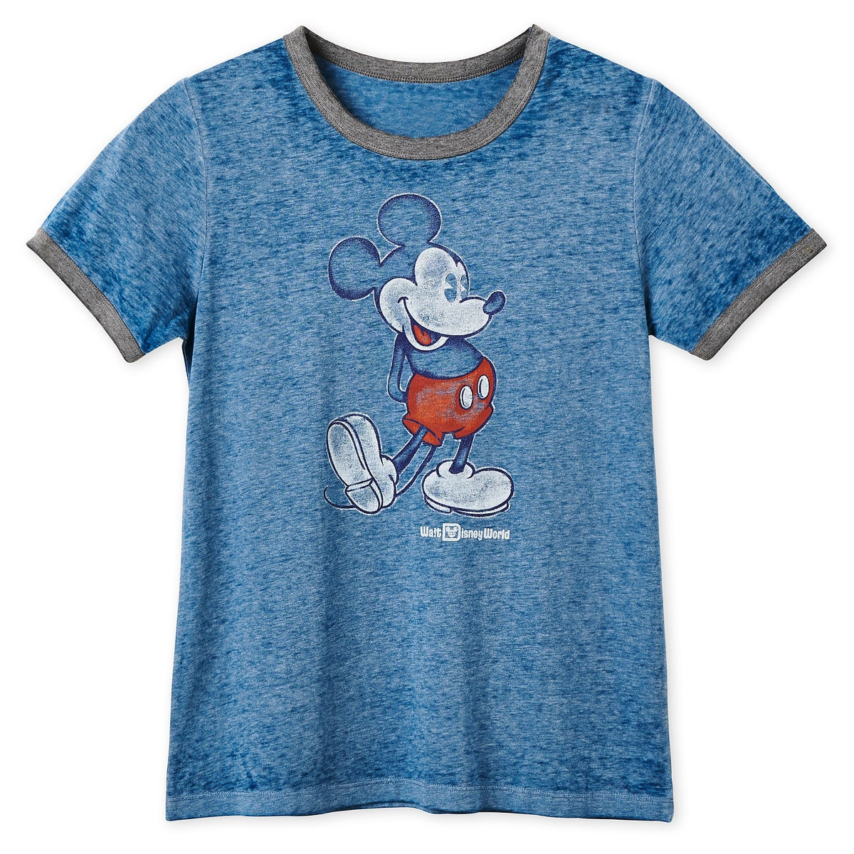 44db4fe58 Product Image of Mickey Mouse Heathered Ringer T-Shirt for Women - Walt  Disney World