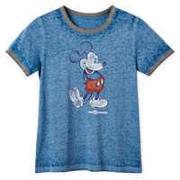 Image of Mickey Mouse Heathered Ringer T-Shirt for Women - Walt Disney World # 1