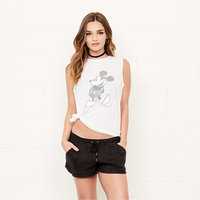 Mickey Mouse Grayscale Tank Top for Women by David Lerner