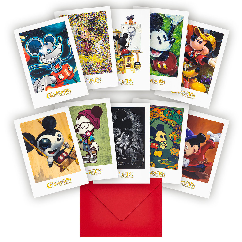 Mickey Mouse ''Celebration of the Mouse'' Notecard Set Official shopDisney