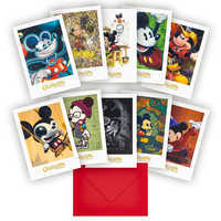 Image of Mickey Mouse ''Celebration of the Mouse'' Notecard Set # 1