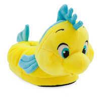 Image of Flounder Plush Slippers for Kids - The Little Mermaid # 1