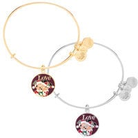 Santa Mickey and Minnie Mouse Bangle by Alex and Ani