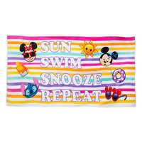Image of Disney Emoji Premium Beach Towel with Bag # 1
