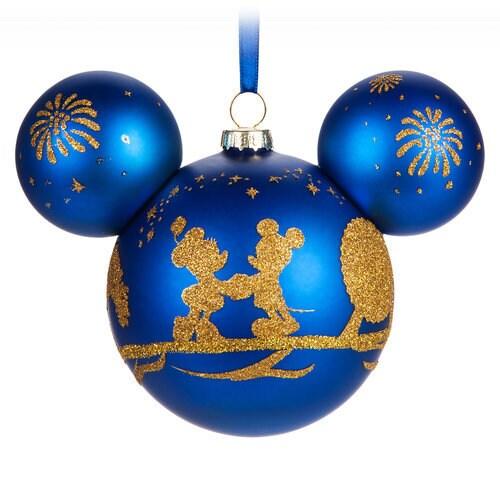 Mickey Mouse Icon Glass Ornament Walt Disney World