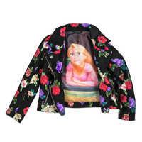 Image of Rapunzel Faux Leather Moto Jacket for Girls # 3
