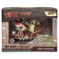 Image of Jolly Roger with Pirate Ship Dorbz Ridez Vinyl Figure Set by Funko - Pirates of the Caribbean # 5