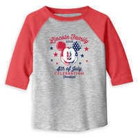 Image of Toddlers' Mickey Mouse 4th of July Raglan T-Shirt - Disneyland - Customized # 2