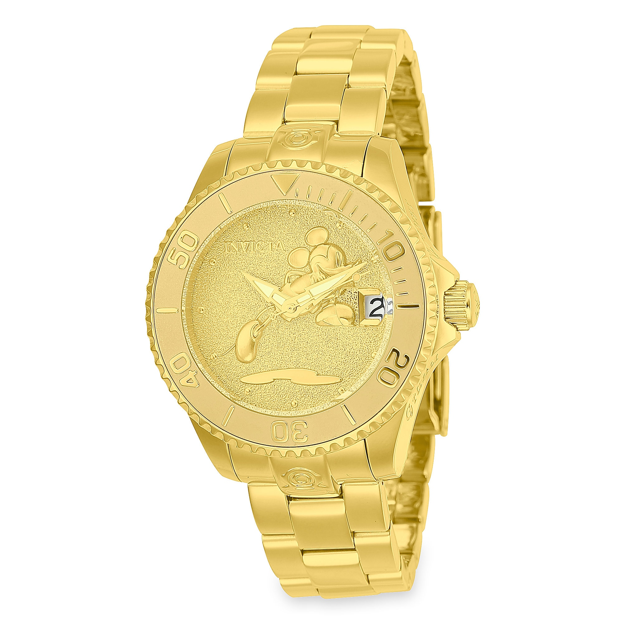 Mickey Mouse Golden Watch for Women by INVICTA - Limited Edition