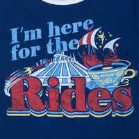 Image of Disney Parks ''I'm here for the Rides'' Ringer T-Shirt for Women # 3