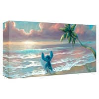 Image of Stitch ''Waiting for Waves'' Giclee on Canvas by Rob Kaz # 1