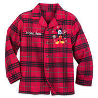 Image of Mickey Mouse Holiday Plaid PJ Set for Boys - Personalizable # 4