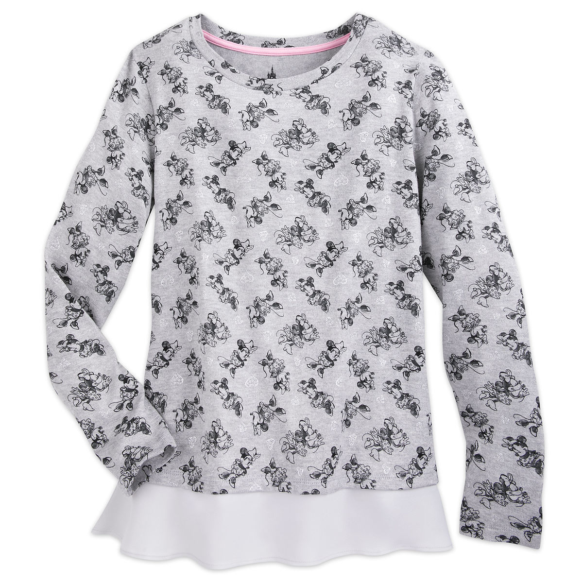 Product Image of Sweet Minnie Mouse Layered Sweatshirt for Women   1 1b353ef87