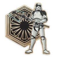 Image of First Order Executioner Stormtrooper Pin & Lithograph Set - Star Wars: The Last Jedi - Limited Edition # 1