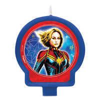 Image of Marvel's Captain Marvel Birthday Candle # 1