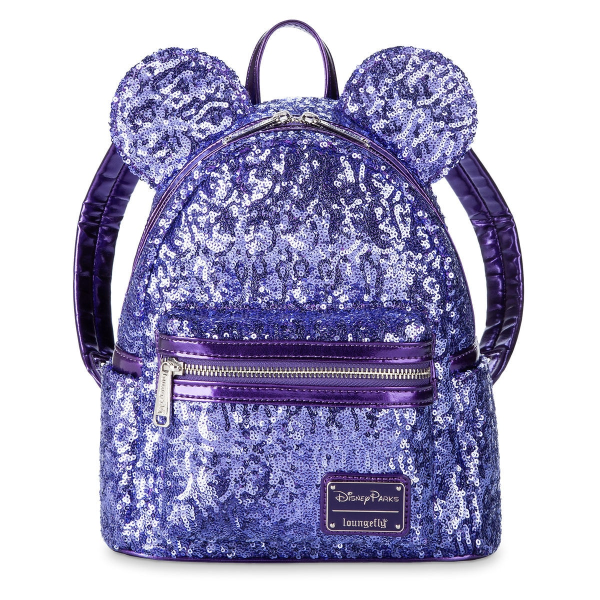 fe770f6e9772 Product Image of Minnie Mouse Potion Purple Sequined Mini Backpack by  Loungefly   1