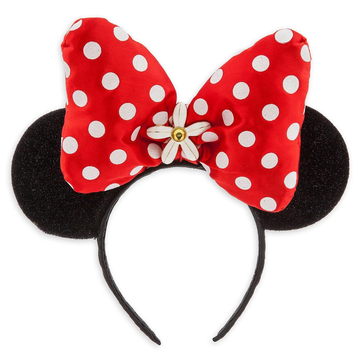 Minnie Mouse Ear Headband Red Bow Shopdisney