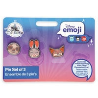 Image of Zootopia Disney Emoji Mini Pin Set # 3