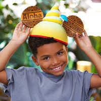 Image of Pineapple Swirl Ear Hat for Adults # 2