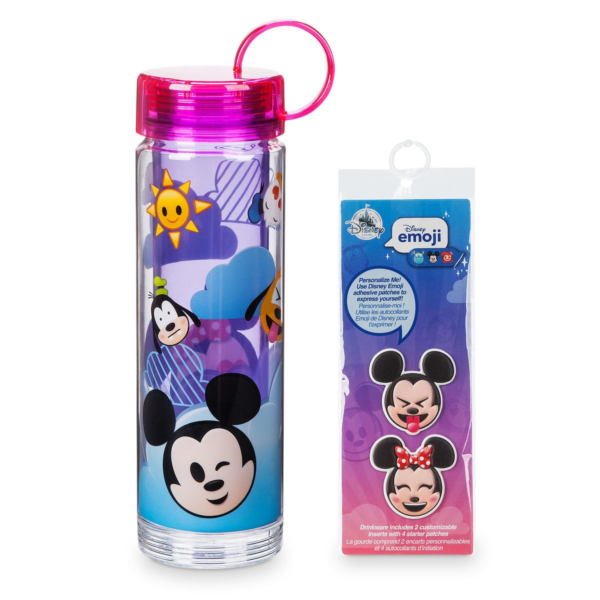 mickey mouse and friends emoji water bottle with stickers shopdisney