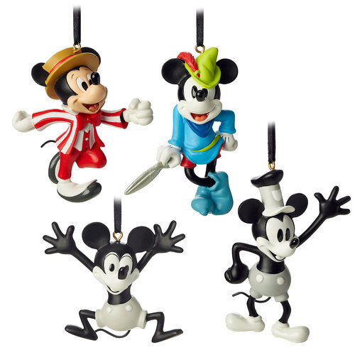 Mickey Mouse Through the Years Mini Ornament Set 1