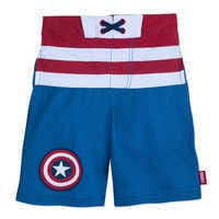 Image of Captain America Swim Trunks for Kids # 1