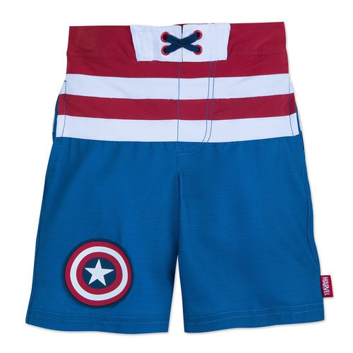 Captain America Swim Trunks for Kids