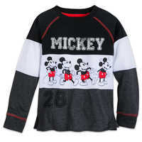 Image of Mickey Mouse Long Sleeve Raglan Shirt for Kids # 1