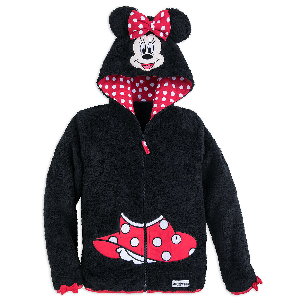 33d98c25b Product Image of Minnie Mouse Hooded Fleece Jacket for Girls - Walt Disney  World # 1