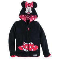 Image of Minnie Mouse Hooded Fleece Jacket for Girls - Walt Disney World # 1