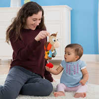 Image of Bullseye Clip & Go Plush for Baby by Lamaze # 3