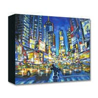Image of Mickey and Minnie Mouse ''You, Me, and the City'' Giclée on Canvas by Stephen Fishwick # 1