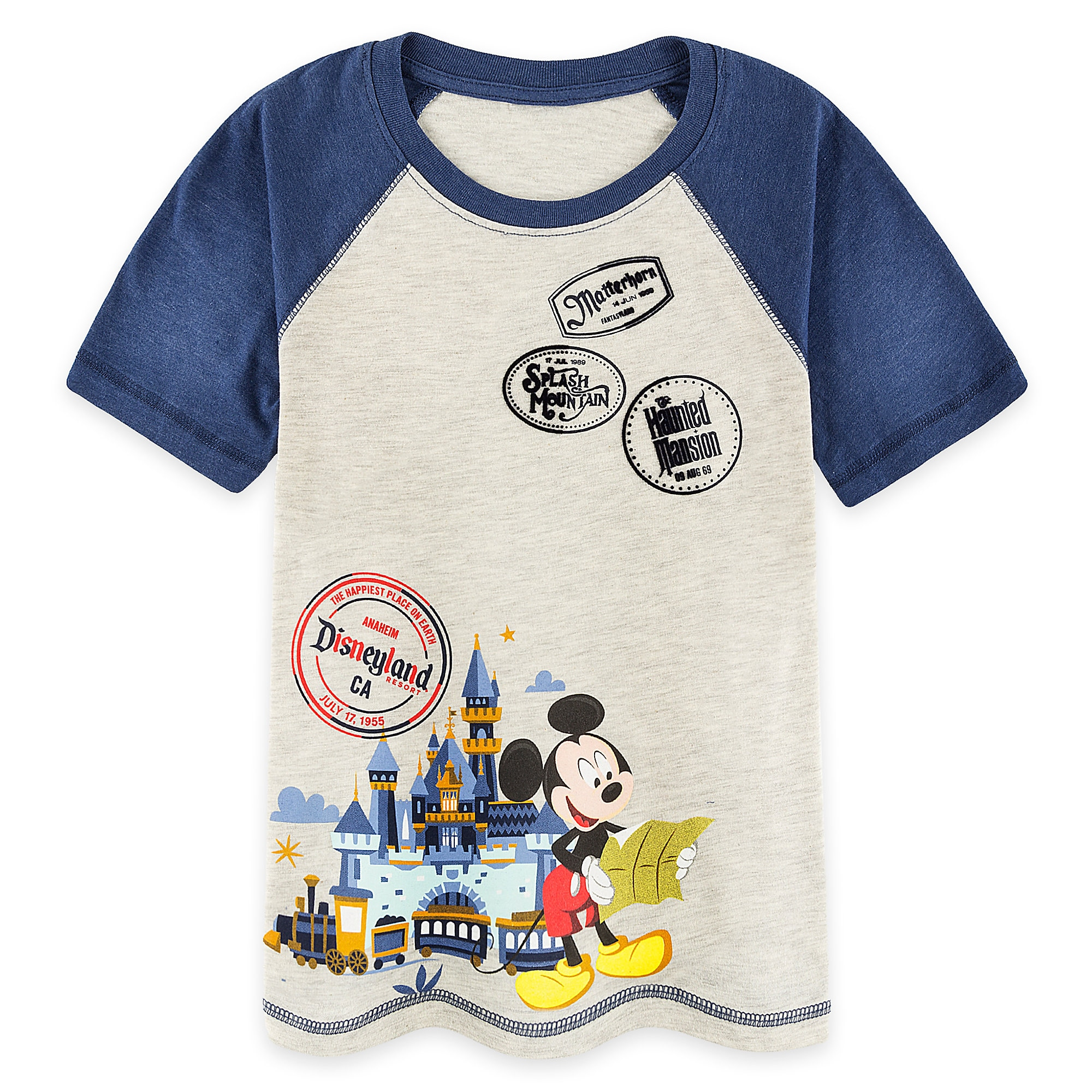 Mickey Mouse Disneyland Raglan T-Shirt for Boys