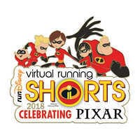 Image of runDisney Incredibles 2 Virtual Running Shorts 2018 Pin # 1