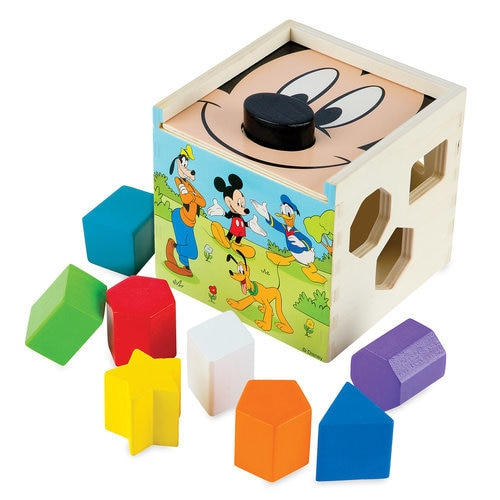 Mickey Mouse And Friends Wooden Shape Sorting Cube By
