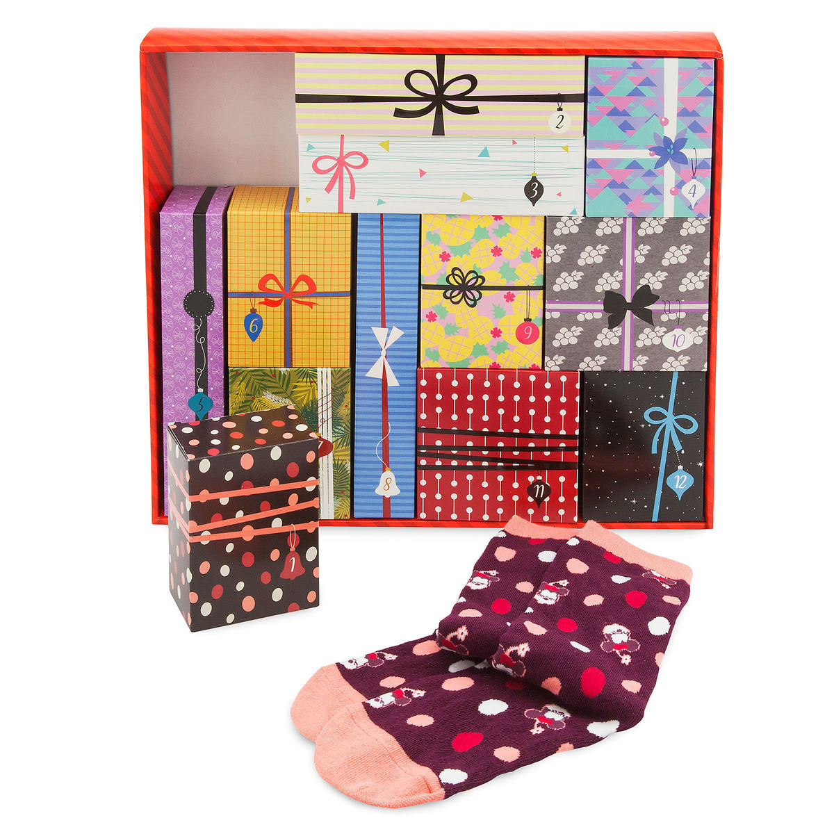Product Image of Disney Socks Advent Calendar Gift Set for Women # 1