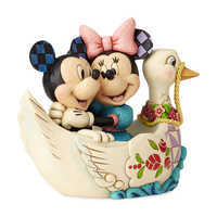 Image of Mickey and Minnie Mouse ''Love Birds'' Figure by Jim Shore # 3