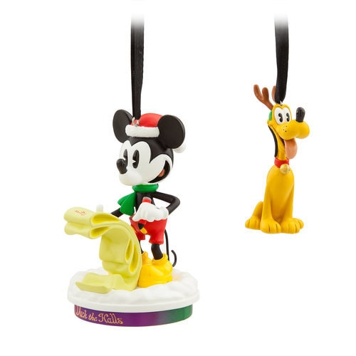 Mickey Mouse Through the Years Sketchbook Ornament Set - Duck the Halls - December - Limited Release