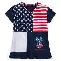 Image of Minnie Mouse Americana Fashion T-Shirt for Girls - Walt Disney World # 1