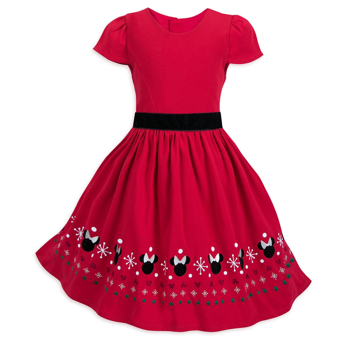 Product Image Of Minnie Mouse Holiday Fancy Dress For Girls 1