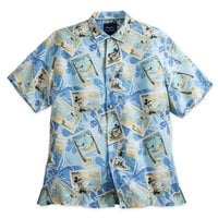 Image of Mickey Mouse and Friends Silk Shirt for Men by Tommy Bahama - Blue # 1
