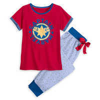 Image of Marvel's Captain Marvel Pajama Set for Women # 1