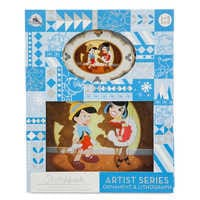 Image of Pinocchio Artist Series Sketchbook Ornament and Lithograph Set - Limited Edition # 2