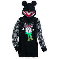 Image of Minnie Mouse Holiday Sweater Dress for Women # 1
