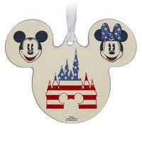Image of Mickey and Minnie Mouse Americana Ornament # 1