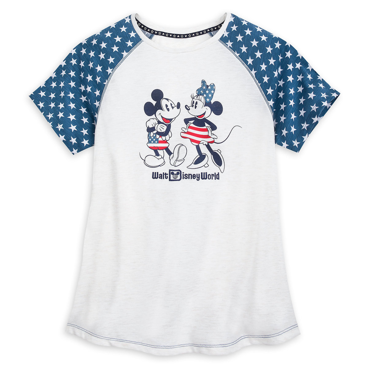 a3434b338103 Product Image of Mickey and Minnie Mouse Americana T-Shirt for Women - Walt  Disney