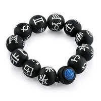 Image of Black Panther Kimoyo Bead Glass Bracelet by RockLove - Large # 1