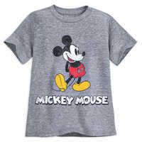 Image of Mickey Mouse Classic T-Shirt for Boys - Gray # 1